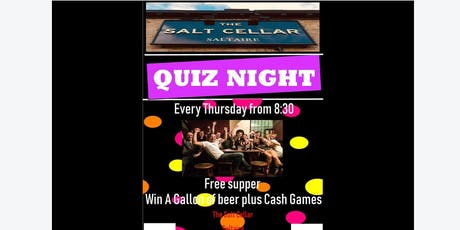 SALTAIRE'S BEST  WEEKLY QUIZ AND PLAY YOUR CARDS RIGHT. tickets