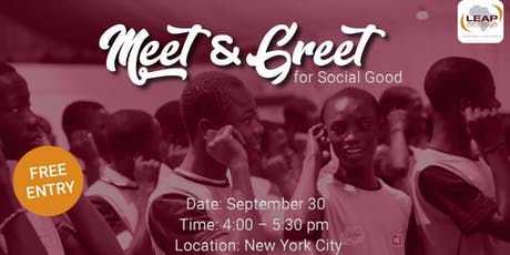 Meet and Greet for Social Good tickets