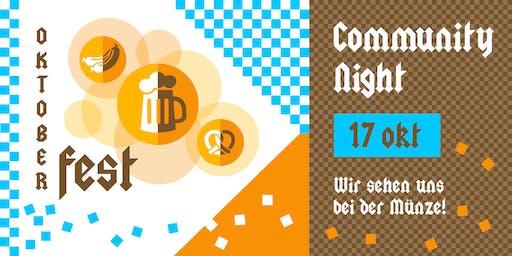 Community Night 17 oktober