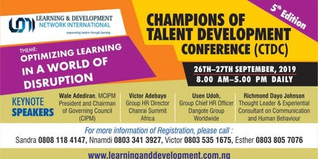 LDNI Champions of Talent Development Conference tickets