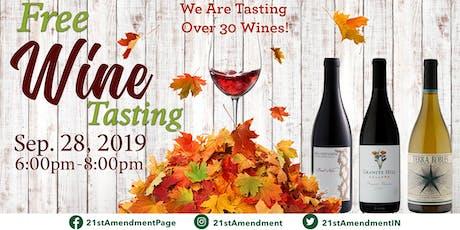 Free Wine Tasting tickets