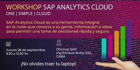 Workshop - SAP Analytics Cloud entradas