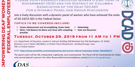 EMPOWERING DEAF WOMEN FEDERAL EMPLOYEES tickets