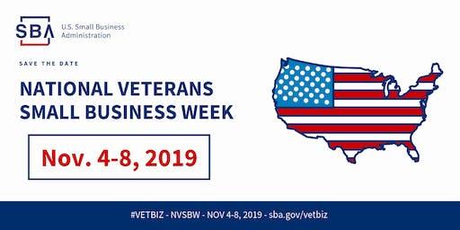 National Veterans Small Business Week Workshop