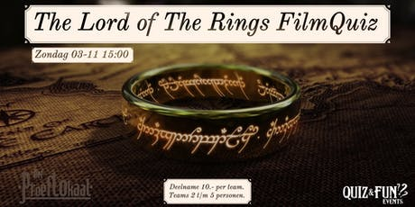 The Lord of The Rings FilmQuiz | Waalwijk tickets