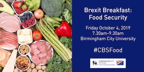 Brexit Breakfast: Food Security tickets