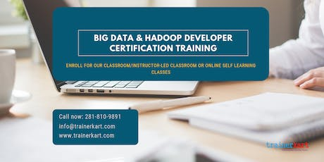 Big Data and Hadoop Developer Certification Training in  Mississauga, ON tickets