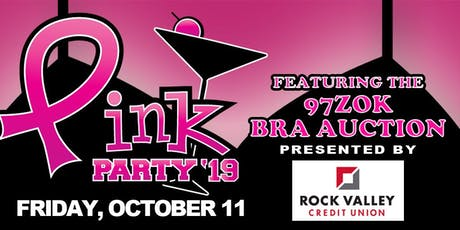 2019 Pink Party featuring the 97ZOK Bra Auction tickets