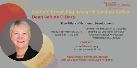 Brown Bag Research Seminar Series: Dean Sabine O'Hara tickets