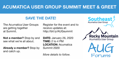 Acumatica User Group Summit Meet & Greet