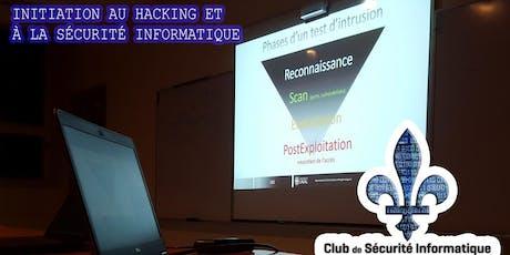 Initiation au hacking et à la sécurité informatique billets