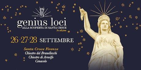 GENIUS LOCI 2019 - GIOVEDI' 26 SETTEMBRE tickets