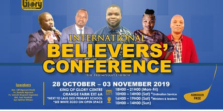 INTERNATIONAL BELIEVERS CONFERENCE 2019 tickets