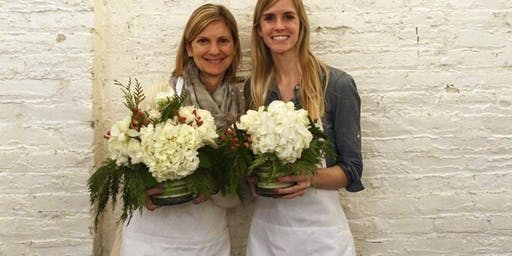 Holiday Flowers at Vermont Wedding Studio with Alice's Table