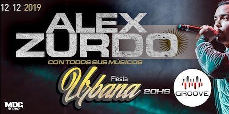 Alex Zurdo en Concierto con sus músicos Fiesta de  entradas