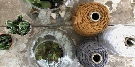 Macrame hanger and terrarium workshop tickets