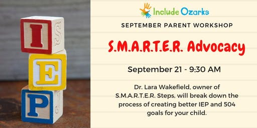 September Parent Workshop - SMARTER Advocacy
