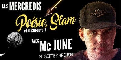 Poésie/Slam et micro-ouvert avec Mc June