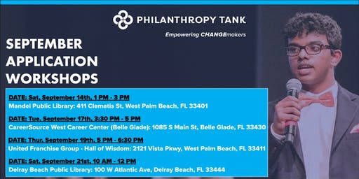 Philanthropy Tank September Application Workshops