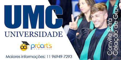 Extra UMC- 22/01/20 - Campus Villa Lobos ingressos