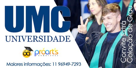 Extra UMC- 23/01/20 - Campus Villa Lobos ingressos