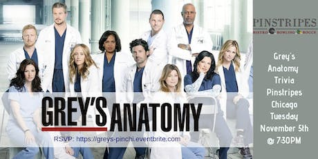 Grey's Anatomy Trivia at Pinstripes Chicago tickets