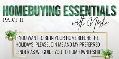Home buying Essentials Part II: Home Before the Holidays