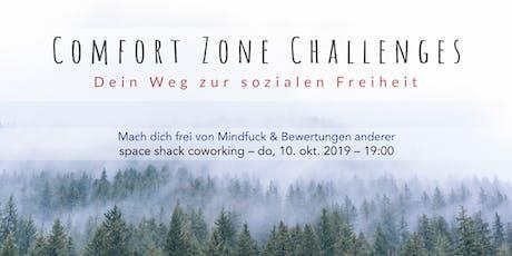 Comfort Zone Challenges // Mach dich frei von Mindfuck & Bewertungen anderer Tickets