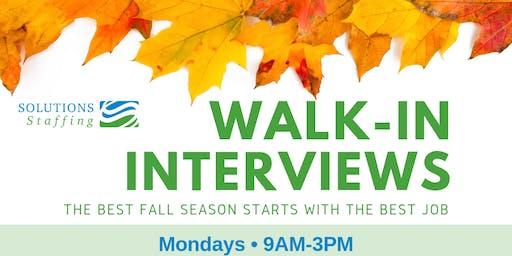 Walk-In Interviews @ Cincinnati, OH