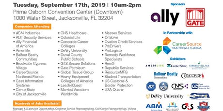 ** Huge Jacksonville Job Fair - 100's of Jobs Available ** tickets