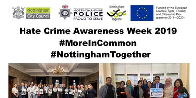 Nottingham Hate Crime Awareness Week Reception