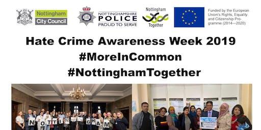Nottingham Hate Crime Awareness Week Reception