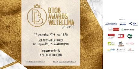 TEASER BtoB Awards Valtellina biglietti