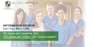 Earn Your LPN or RN | Enrollment Information Session | Sovereign School of Nursing