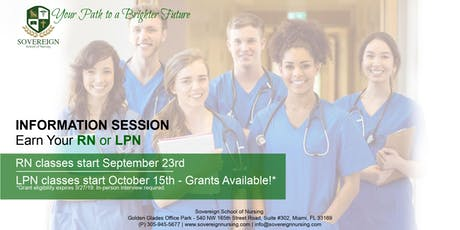 Earn Your LPN or RN | Enrollment Information Session | Sovereign School of Nursing tickets