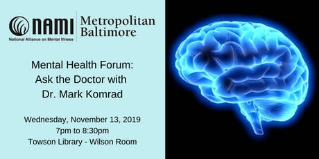 Ask the Doctor with Dr. Mark Komrad tickets