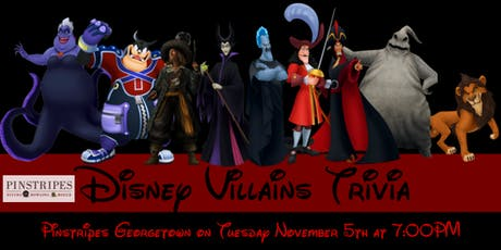 Disney Villains Trivia at Pinstripes Georgetown tickets