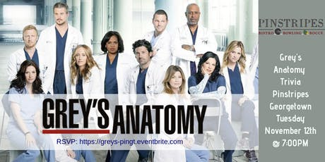 Grey's Anatomy Trivia at Pinstripes Georgetown tickets