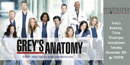 Grey's Anatomy Trivia at Pinstripes Georgetown