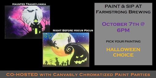 Disney Halloween Paint & Sip @ Farmstrong Brewing
