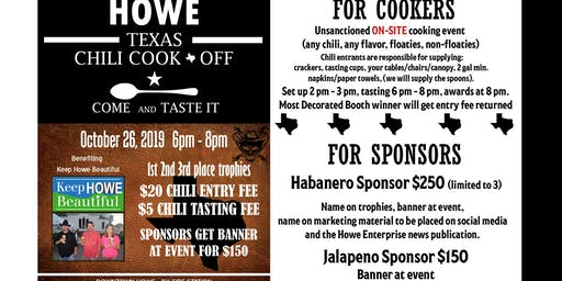 "2019 Howe Texas Chili Cook-Off at ""Downtown Howe-lloween Festival"""