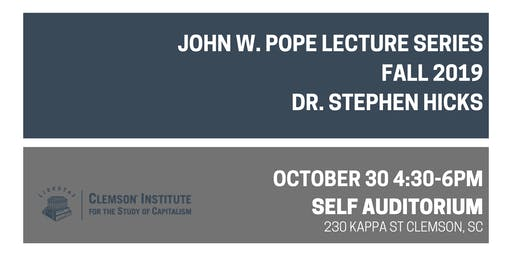"""Fall 2019 Pope Lecture: """"The Postmodern Critique of Liberal Education"""""""