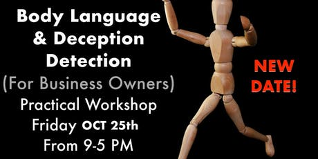 Body Language & Deception Detection (For Business Owners) tickets