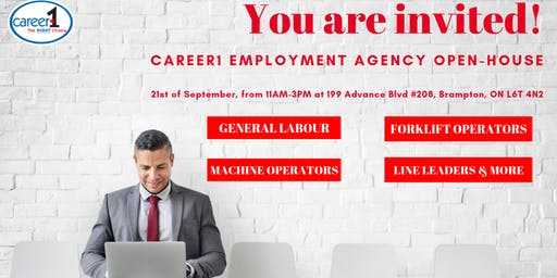 Career1 Employment Agency - Open House
