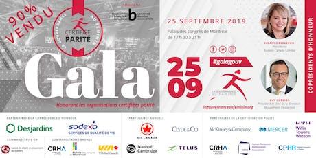 Gala de reconnaissance annuel de La Gouvernance au Féminin 2019 tickets
