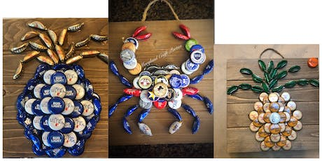 Bottle Cap Plaque with Maryland Craft Parties tickets