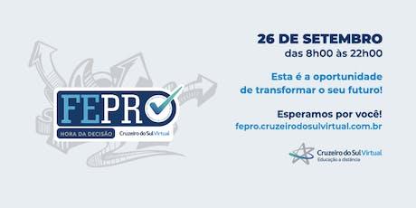 FEPRO 2019 - Feira de Profissões Cruzeiro do Sul - Polo Jabaquara ingressos