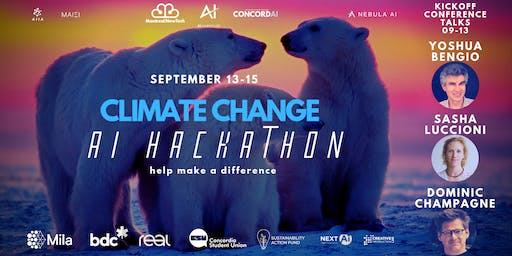 Climate Change AI Hackathon + Kickoff Conference (open to all)