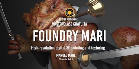 """Masterclass """"Foundry MARI"""" – Manuel Mané entradas"""