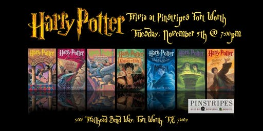 Harry Potter Books Trivia at Pinstripes Fort Worth